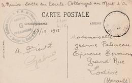 Collonges Au Mont D'Or (Lyon)  Cachet Hôpital Annexe G Sur Cpa De Lyon - WW I