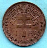 NO/  FRENCH  MADAGASCAR   1 Franc 1943 - Madagascar