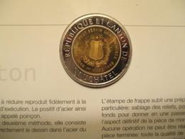 Suisse: 1 Alexis Monnaie Temporaire Neuchâtel 1998 Avec Dépliant Explicatif - Monétaires / De Nécessité