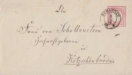 DR GS-Umschlag 1 Gr. K2 Schandau 8.7.75 Gel. Nach K2 Kötzschenbroda 8.7.75 - Briefe U. Dokumente