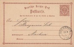 DR Ganzsache K2 Neu-Ruppin 25.2.75 Gel. Nach Aachen - Briefe U. Dokumente