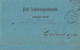 DR Zustellurkunde KOS Pinnow (Bz. Stettin) 3.11.03 - Deutschland