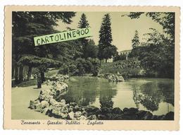 Campania-benevento Veduta Giardini Pubblici E Laghetto Anni 50 Retro Timbro Pubblicita  Liquore Strega - Benevento