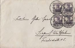 DR Brief Mef Minr.4x 106  4er Block Uelzen - Briefe U. Dokumente