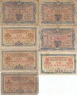Toulon 7 Billets 50 C Et 1 F 1917 à 1920 Dont Petits N° - Chamber Of Commerce