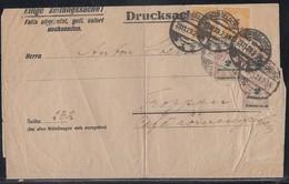 DR Zeitungssache Streifenband Mif Minr.3x 326B,2x 327A Düsseldorf 23.11.23 - Briefe U. Dokumente