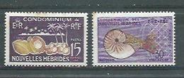 NOUVELLES-HEBRIDES - Yvert  N° 203 Et 204 * - Légende Française