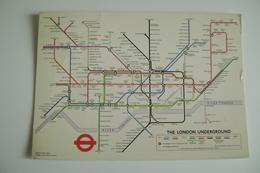 Railway   The London Underground   Carte   CARTINA   MAPPA MAPS   VIAGGIATA - Carte Geografiche