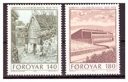 ISOLE FÆR ØER - 1978 - 150° ANNIV. BIBLIOTECA NAZIONALE. SERIE COMPLETA. - MNH** - Isole Faroer