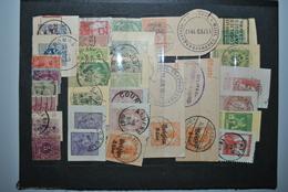 Belgique 1869/... Fragments Cartes Postales - 1869-1883 Léopold II