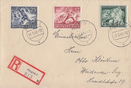 DR R-Brief Mif Minr.836,839,843 Siegen 27.3.43 - Briefe U. Dokumente