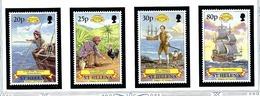 St Helena 692-95 MNH 1997 History Of St Helena - Sainte-Hélène