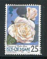 ILE DE MAN- Y&T N°789- Oblitéré (fleurs) - Roses