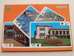 Groeten Uit KNOKKE Un Bonjour De ( AVM ) Anno 19?? ( Zie / Voir / See Photo ) Speelkaart ! - De Haan