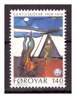 ISOLE FÆR ØER - 1978 - 50° MOVIMENTO GIOVANILE SCOUTISMO FEMMINILE. - MNH** - Isole Faroer