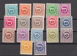 Austria (1945) - Mi. 721/737 ** - 1945-60 Neufs