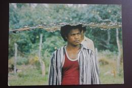 Oceania, Tonga Man - Old Postcard - Tonga