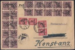 DR Dienst-Brief Mif Minr.20x D92, 4x D97 Stuttgart 25.10.23 - Dienstpost