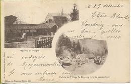 BUSSANG Théatre Du Peuple - Entrée Du Village (carte Expédiée En1899 Ou 1900) - Bussang