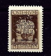 Fiume 198 MNH 1924 Overprinted Issue - 9. WW II Occupation (Italian)
