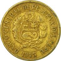 Monnaie, Pérou, Sol, 1975, Lima, TB+, Laiton, KM:266.1 - Pérou