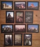 Lot De 12 Cartes Postales Série Les Chateaux CATHARES - Histoire
