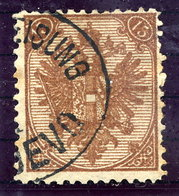 BOSNIA 1879-88 Arms Lithographed 15 H. Deep Brown, Used.  SG 40 - Bosnien-Herzegowina