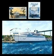 Curacao 2018 Mih. 458/59 + 460 (Bl.27) Ship Freewinds In Curacao Harbour MNH ** - Curacao, Netherlands Antilles, Aruba