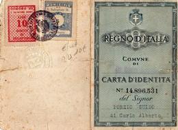 CARTA D'IDENTITA N°14.896.531 DEL SIGNOR-REGNO D'ITALIA- 1946 COMMUNE DE SAN SALVATORE-MONTFERRATO - Cartes