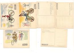 M7457 Sport Ciclismo Biciclette Pionieri Pirelli 3 Cartoline Diverse - Cartoline