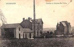 Anthisnes - Station Et Avenue Des Villas (animée, Edit. Henri Harray 1920...taches) - Anthisnes