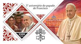 GUINEA BISSAU 2018 - Pope Francis, Amazonian Indians S/S. Official Issue - Indiens D'Amérique