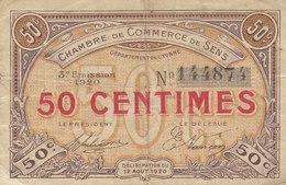 Sens 50 C Du 12 Août 1920 3è Émission - Chamber Of Commerce