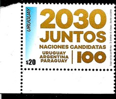 URUGUAY 2018 FUTBOL,FOOTBALL SOCCER WORLD CUP 2030 ARGENTINA PARAGUAY URUGUAY MNH - Neufs
