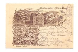 """0-5630 HEILIGENSTADT, Gruss Aus Der """"Alten Burg"""", Brauereiausschank, 1896, Frühe Karte - Heiligenstadt"""