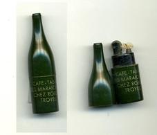 Briquet Publicitaire Bouteille / Bar - Tabac Des Maraîchers à Troyes (Chez Robert) - Briquets