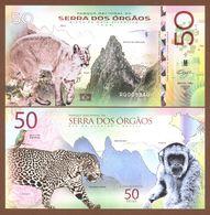 SERRA Dos ÓRGÃOS National Park (Brazil) 50 Reais 2018 Polymer UNC - Billets