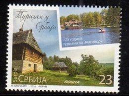 SERBIA, 2018, MNH, TOURISM, BOATS, TREES, LAKES, 1v - Holidays & Tourism