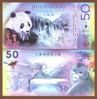 JIUZHAIGOU National Park (China) 50 Yuan 2018 Polymer UNC - Billets