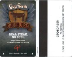 Hotel Room Key Cards, Room Keys, SChlüsselkarte, Clef De Hotel Bally's Atlantic City - Guy Fieri's Chophouse-2242 - Cartas De Hotels