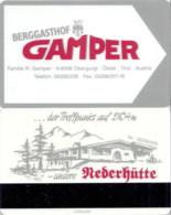 Hotel Room Key Cards, Room Keys, SChlüsselkarte, Clef De Hotel-- Berggasthof Gamper Obergurgl--302 - Hotel Keycards