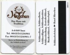 Hotel Room Key Cards, Room Keys, SChlüsselkarte, Clef De Hotel-- Gasthof Hirschen Imst-2370 - Hotelkarten