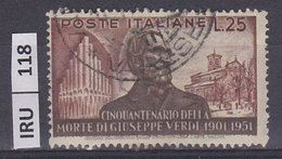 ITALIA REPUBBLICA 1951Verdi L. 25 Usato - 1946-60: Used