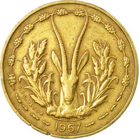 Monnaie, West African States, 5 Francs, 1967, Paris, TB+ - Ivory Coast