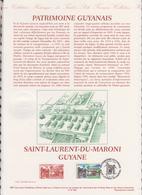1ER JOUR  FEUILLET DOCUMENT PHILATELIQUE 97 509 SAINT LAURENT DU MARONI GUYANE - Documents De La Poste