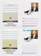 CONCORDE 2 Cards Aviation Airplane Charles De Gaulle France - Concorde