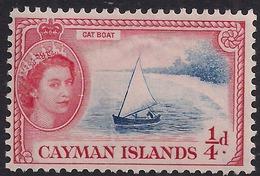 Cayman Islands 1953 - 62 QE2 1/4d Cat Boat MM SG 148 ( K1428 ) - Cayman Islands
