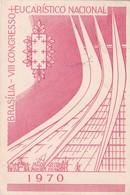BRASILIA, VII CONGRESSO EUCARISTICO NACIONAL 1970.CIRCULEE BUENOS AIRES OBLIT SAO PAULO 1975- BLEUP - Brasilia