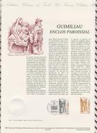 1ER JOUR  FEUILLET DOCUMENT PHILATELIQUE 97 522 GUIMILIAU ENCLOS PAROISSIAL - Documents De La Poste