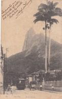 CORCOVADO, RIO DE JANEIRO. TRAMWAY. A,RIVEIRO. CIRCULEE PARAGUAY 1890 STAMP A PAIR- BLEUP - Rio De Janeiro